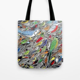 Toucans, parrots and tropical birds of Costa Rica Tote Bag