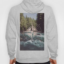 Rose Gold River Compass Hoody