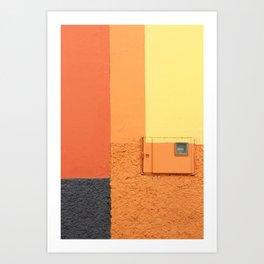 Hot lines Art Print