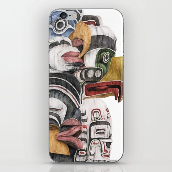 Stanley Park Totems iPhone & iPod Skin