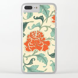 Chinese peony Clear iPhone Case