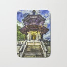 The Pagoda Vincent Van Gogh Bath Mat