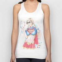 supergirl Tank Tops featuring Supergirl by James Murlin