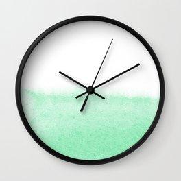 Mint watercolor Wall Clock