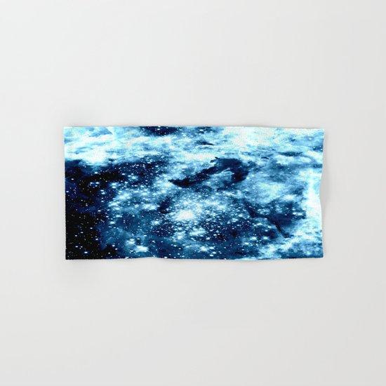 Ice Blue Galaxy Star Clusters Hand & Bath Towel