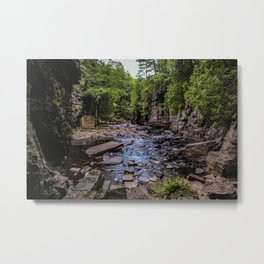 Canyon Falls & Sturgeon River Metal Print