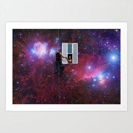 Space Window Art Print
