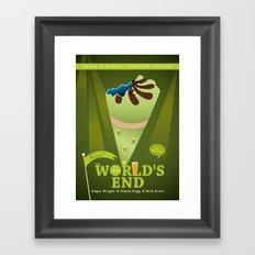 The World´s End Framed Art Print