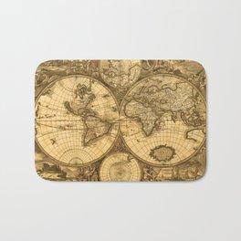 Antique World Map Bath Mat