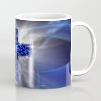 cross Mugs featuring Cross by Mr D's Abstract Adventures