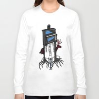 piano Long Sleeve T-shirts featuring piano by JBLITTLEMONSTERS
