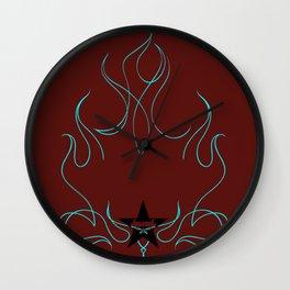 """""""Blue Blazes"""" by One Trick Pony Wall Clock"""