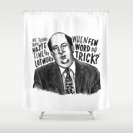Kevin | Office Shower Curtain