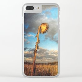 Field of lost Souls - Withered Sunflowers Clear iPhone Case
