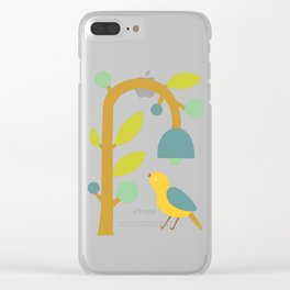 Modern Pop Art Yellowbird Clear iPhone Case