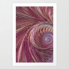 Fractal Tulip 1 Art Print