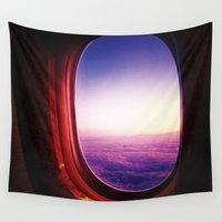 aviation Wall Tapestries featuring aperture by Gray