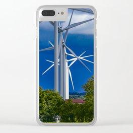 Wind Turbines, Denmark Clear iPhone Case