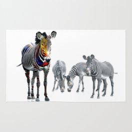 Stand Out Zebra Rug