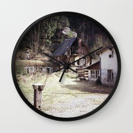 travelling east into the past Wall Clock