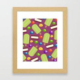 Lime Pops & Jelly Beans Framed Art Print