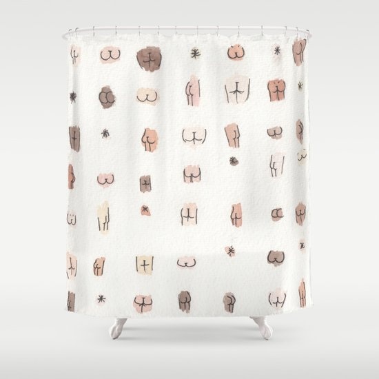 butts shower curtainjulia heffernan | society6
