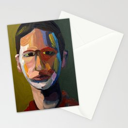 Colorful man Stationery Cards