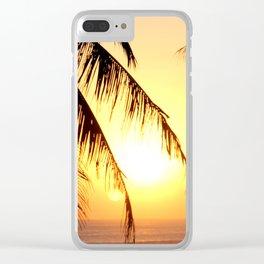 Bali Sunset 2 Clear iPhone Case