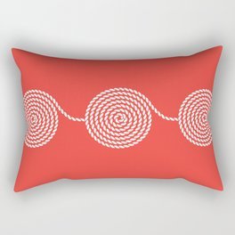 Yacht style. Rope spirals. Red. Rectangular Pillow