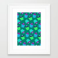 cupcakes Framed Art Prints featuring Cupcakes  by Ingrid Castile
