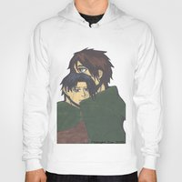 levi Hoodies featuring Eren x Levi by Midnight Zoe