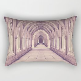 Vintage Church Corridor Rectangular Pillow