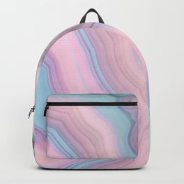 Light Blue and Blush Agate Backpack