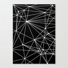 Black & White Geometric Web II Canvas Print