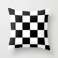 chess Throw Pillows featuring Chess ? by Abstracthelabel