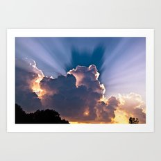 Heavenly Skies Art Print