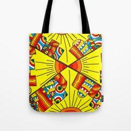 Quadruple city Tote Bag