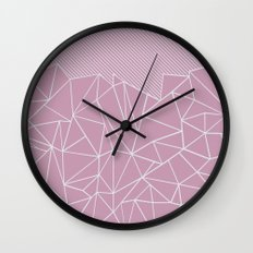 Ab Lines 45 Pink Wall Clock