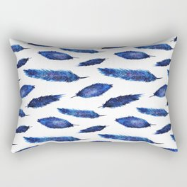 Starry feathers || watercolor Rectangular Pillow