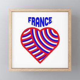 j'aime la france Framed Mini Art Print