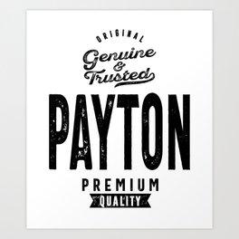 Payton Personalized Name Birthday Gift Art Print