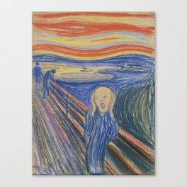 "Edvard Munch ""The Scream"", 1895 Canvas Print"