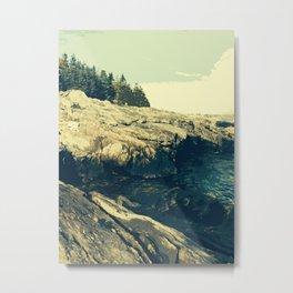 Ocean Point, East Boothbay Metal Print