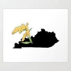 Kentucky Silhouette Art Print