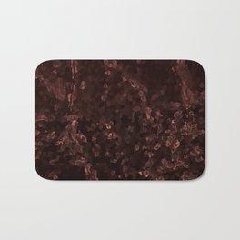 Stone coral - dark Bath Mat
