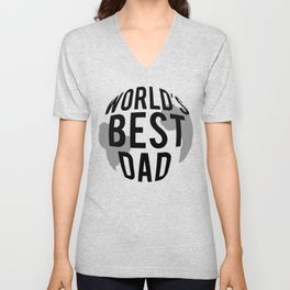 Fathers Day Gifts Worlds Best Dad Unisex V-Neck