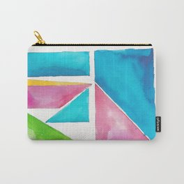 180811 Watercolor Block Swatches 1| Colorful Abstract |Geometrical Art Carry-All Pouch