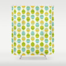 Kawaii Easter Eggs Shower Curtain