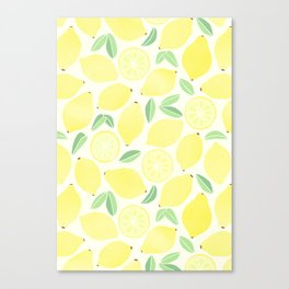 Summer Lemons Canvas Print