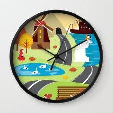 Planet Life Wall Clock